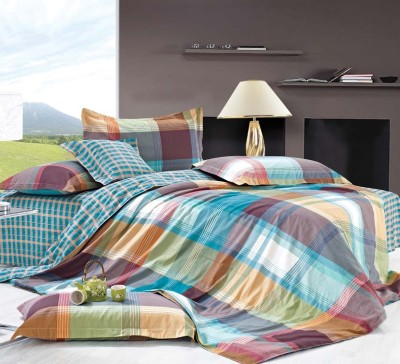 Zyne Cotton Abstract King sized Double Bedsheet