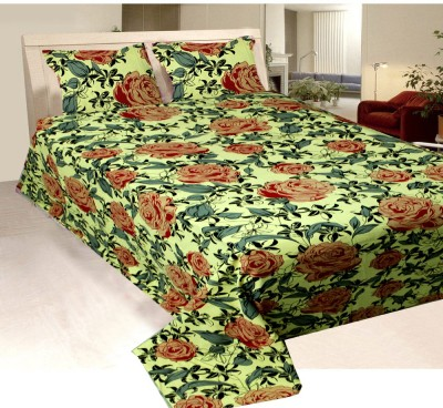 Vugis Cotton Embroidered King sized Double Bedsheet