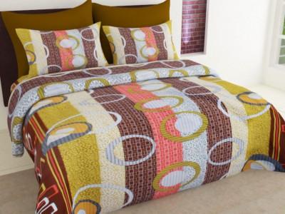 Ahem Homes Cotton Geometric Single Bedsheet