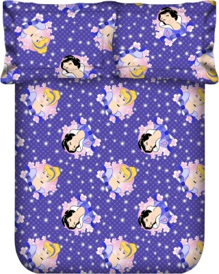 Blush Cotton Cartoon Double Bedsheet