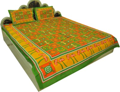 Shopping Rajasthan Cotton Plain Queen sized Double Bedsheet