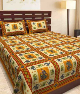 A One Collection Cotton Printed Double Bedsheet