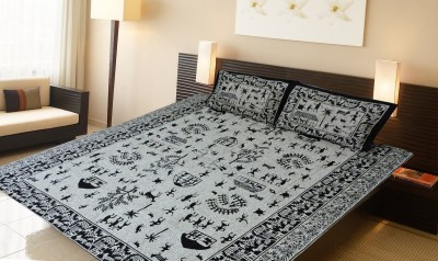 Purecomfort Cotton Abstract King sized Double Bedsheet