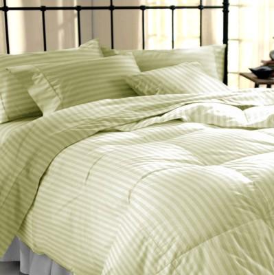 Dreamscape Cotton Striped Double Bedsheet