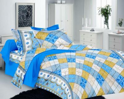 Richa Creation Cotton Geometric Double Bedsheet