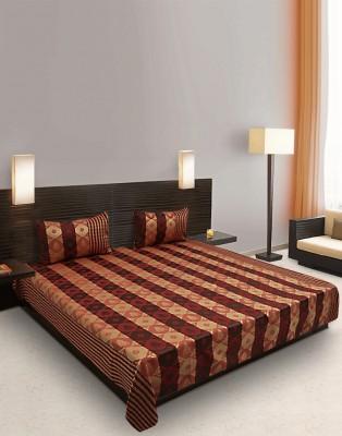 eSOUL Silk Printed Double Bedsheet