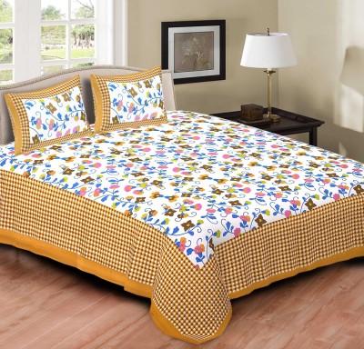 Jaipur Print Market Cotton Floral King sized Double Bedsheet