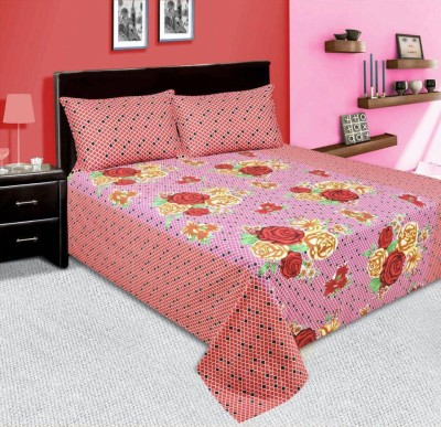 amit enterprises Cotton Floral Double Bedsheet