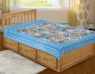 SHOP JAIPURI Cotton Floral Single Bedsheet