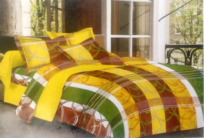 BHD Cotton Abstract Double Bedsheet