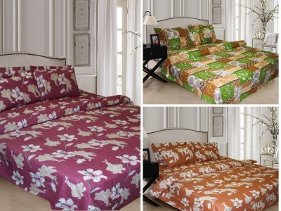 Home Fashion Gallery Cotton Floral Double Bedsheet