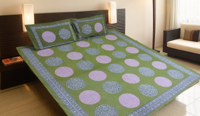 Purecomfort Cotton Printed King sized Double Bedsheet