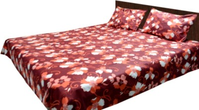 Loomkart Cotton Floral King sized Double Bedsheet