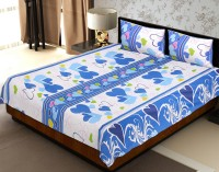 JaipurFabric Cotton Printed Double Bedsheet(Quantity: Set of 3 Pieces (1 Double Bed Sheet + 2 Pillow Covers), Multicolor) best price on Flipkart @ Rs. 664