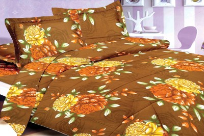 DreamFly Satin Printed Double Bedsheet