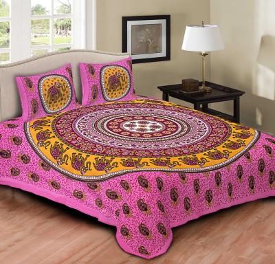 Jaipur Print Market Cotton Floral Queen sized Double Bedsheet
