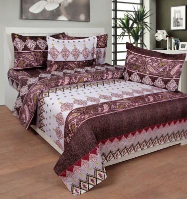 NIRWANA Polycotton Printed Double Bedsheet