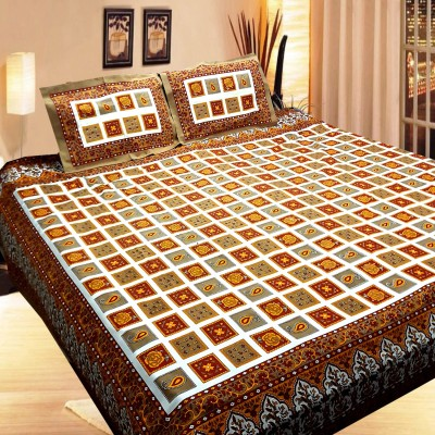 Rajasthali Cotton Printed Double Bedsheet