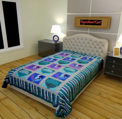RajasthaniKart Cotton Printed Single Bedsheet