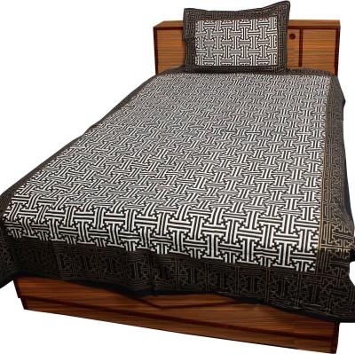 Anshuhandicrafts Cotton Printed Single Bedsheet