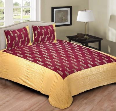 RusticIndia Cotton Paisley King sized Double Bedsheet