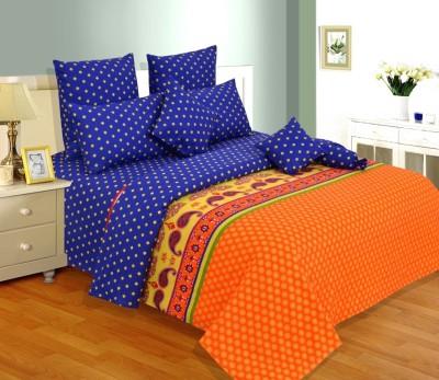 Salona Bichona Cotton Paisley King sized Double Bedsheet