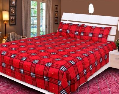 Reliable Trends Cotton Checkered Queen sized Double Bedsheet
