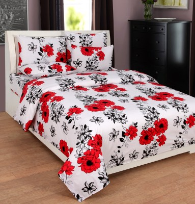 countingbeds Cotton Floral Double Bedsheet