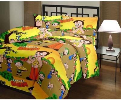 The Intellect Bazaar Cotton Cartoon Single Bedsheet