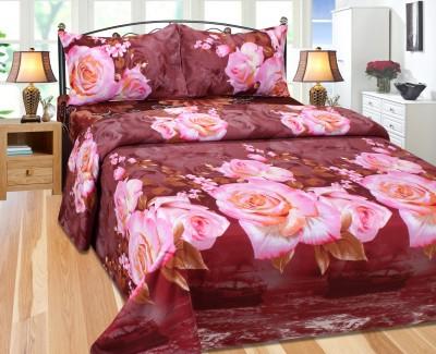 Pasricha Handlooms Polycotton Self Design Double Bedsheet
