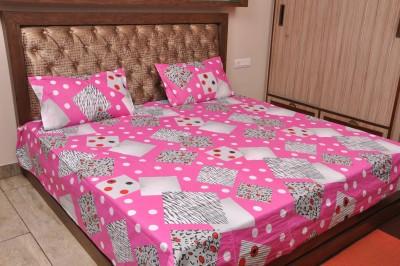 Forssa Cotton Checkered Double Bedsheet