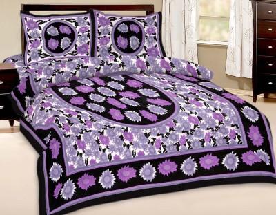 Shreeng Cotton Floral Double Bedsheet