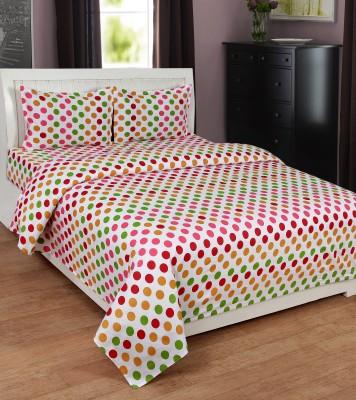 Ultimate Home Decor Cotton Polka Double Bedsheet