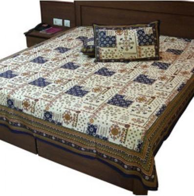 shoppingtara Cotton Floral Double Bedsheet