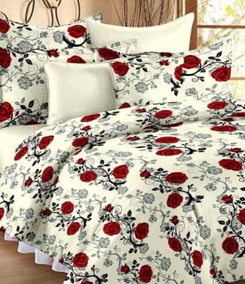 DigitalPrints Cotton Floral Double Bedsheet