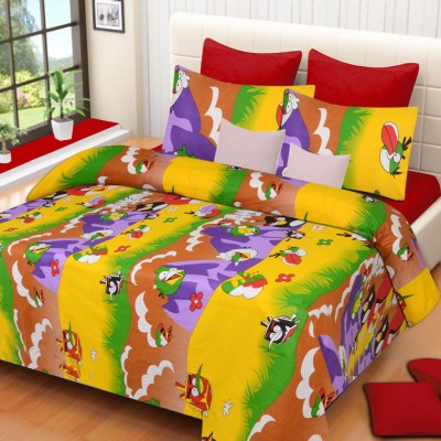 Home Elite Cotton Cartoon Double Bedsheet