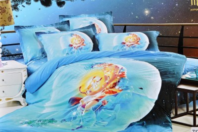 Welhouse Cotton 3D Printed King sized Double Bedsheet