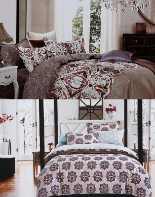 Home Basics Cotton Paisley Queen sized Double Bedsheet