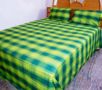 Thiya Fabric Cotton Striped King sized Double Bedsheet