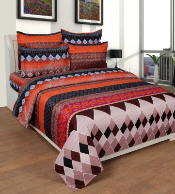 NIRWANA Polycotton Self Design Double Bedsheet