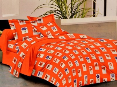 Griiham Cotton Geometric Double Bedsheet