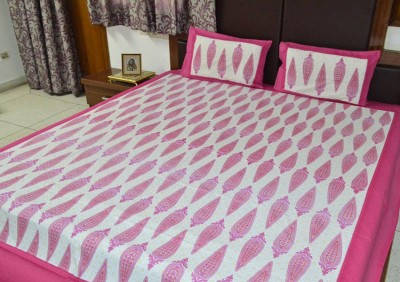 RajasthaniKart Cotton Abstract Double Bedsheet