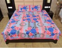 Maurvison Cotton Floral Double Bedsheet(1 Bedsheet, 2 Pillow Covers, Multicolor)
