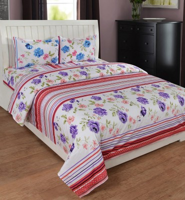 Ultimate Home Decor Cotton Striped Double Bedsheet