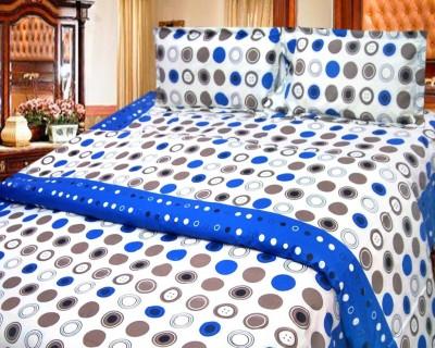 Cosmosgalaxy Cotton Polka Double Bedsheet