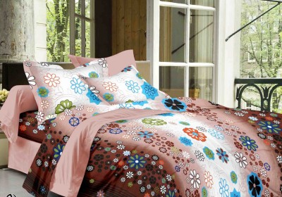 DreamFly Cotton Floral Double Bedsheet