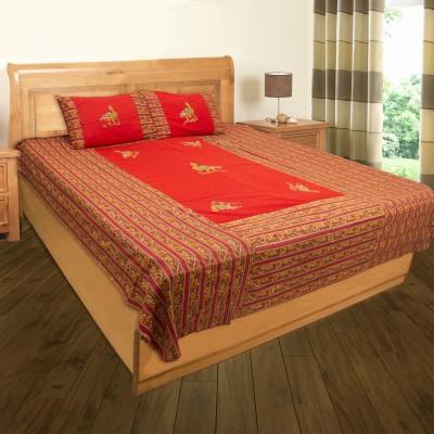 Shyamalam Cotton Printed Double Bedsheet