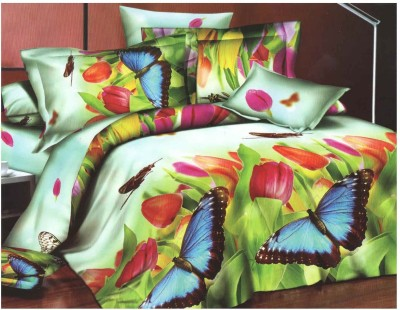 Riyasat Polycotton Abstract King sized Double Bedsheet