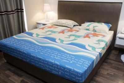 BEDSHEET Cotton Cartoon Double Bedsheet