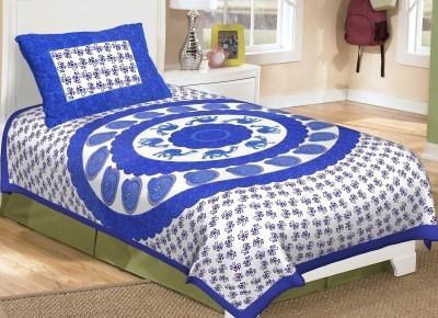 SHOP JAIPURI Cotton Printed Single Bedsheet